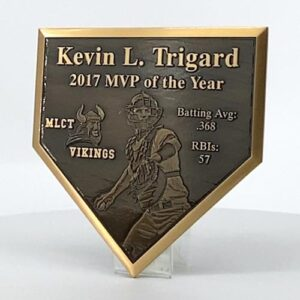 Bronze Homeplate Plaque Thumb