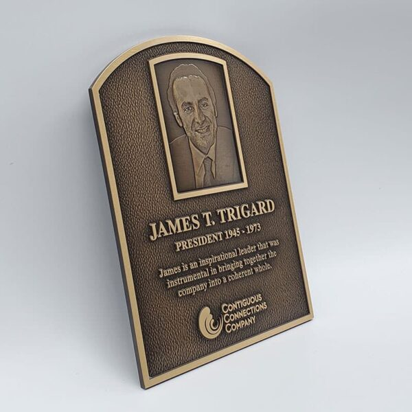 Bronze Arched Plaque Angled