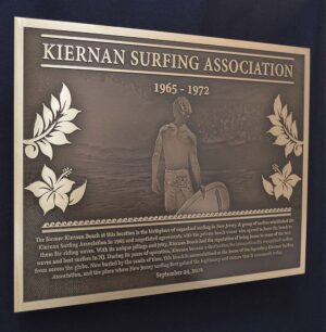 Surfing Hall Of Fame Plaque