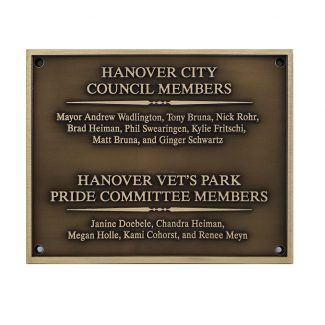 Council Members Bronze Plaque