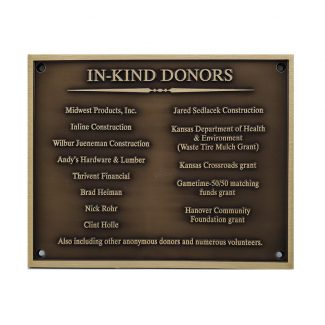 Donor Bronze Plaque