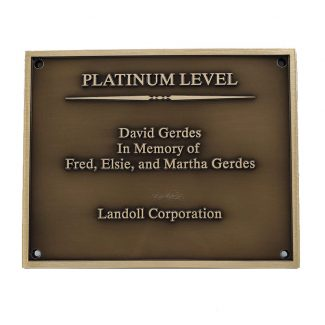Platinum Level Bronze Plaque