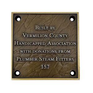 Plumber Bronze Plaque