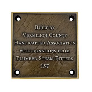 Plumber Bronze Plaque