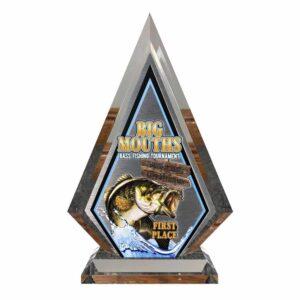Custom Bass Fishing Tournament Trophy Award