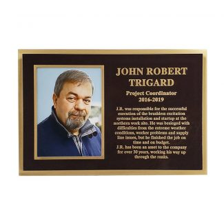Bronze Rectangle Plaque Design