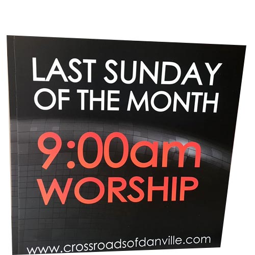 Corrugated Plastic Yard Sign Church