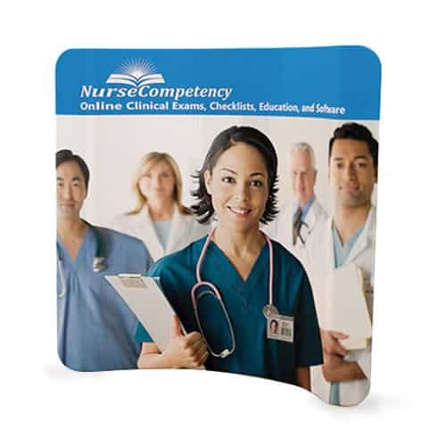 Curved Medical Tension Fabric Display
