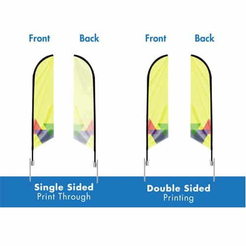 Single Double Sided Printing Flags