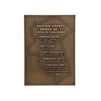 Custom Bronze Bridge Plaque