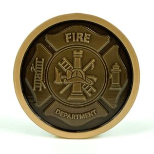 Fire Department Medallion Bronze
