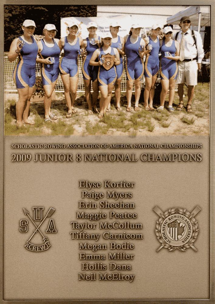 Custom Athletic Plaque_SUI Rowing Champions Plaque
