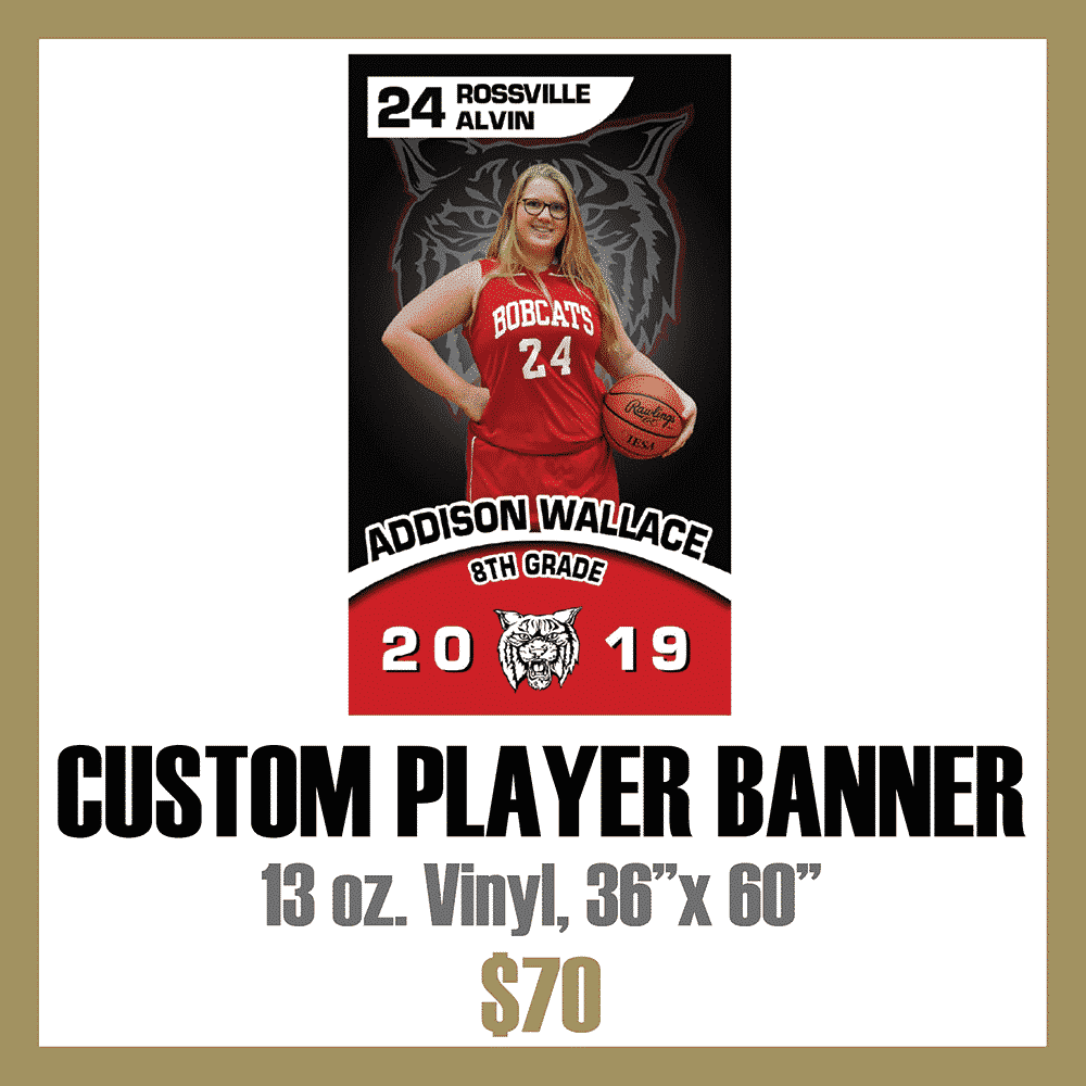Custom Athletic Player Banner