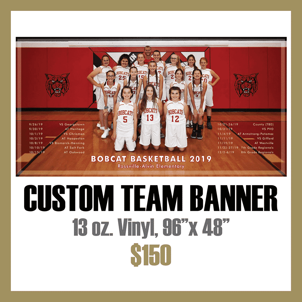 Custom Athletic Team Banner