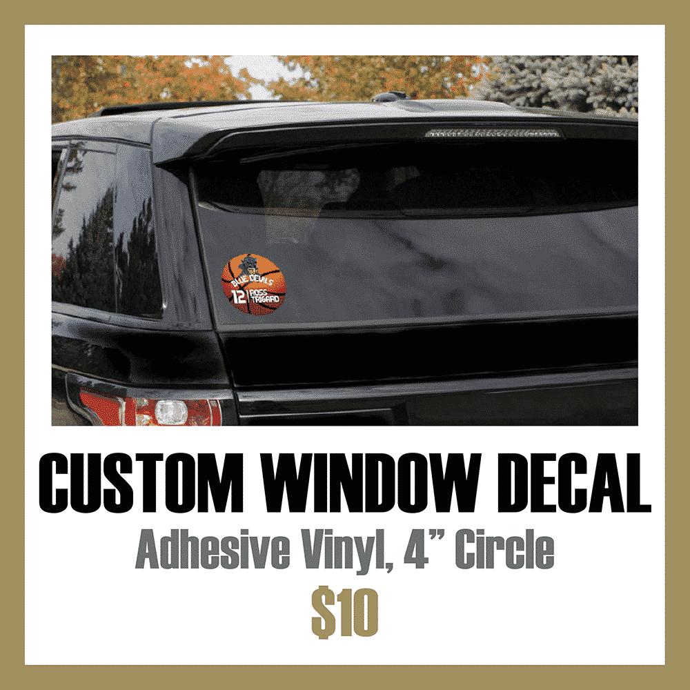 Custom Athletic Window Decal