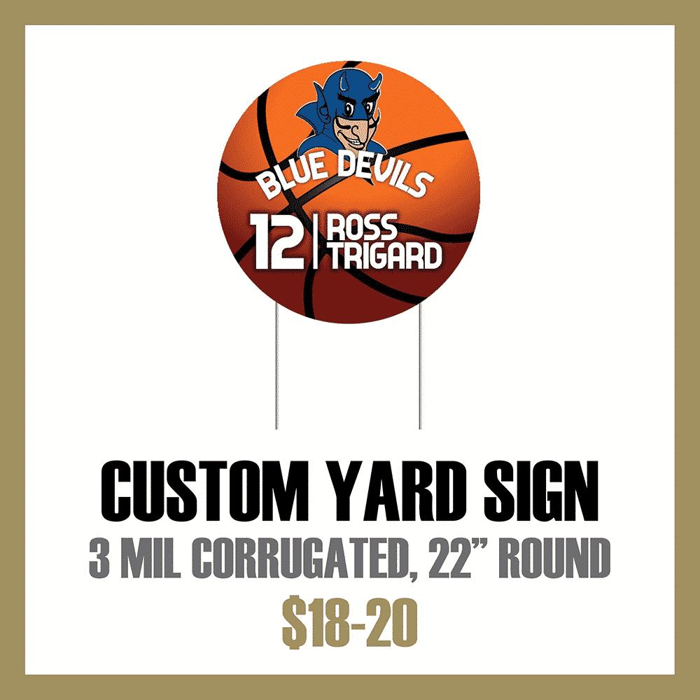 Custom Athletic Yard Sign