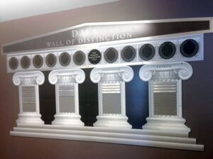 College Donor Wall Display