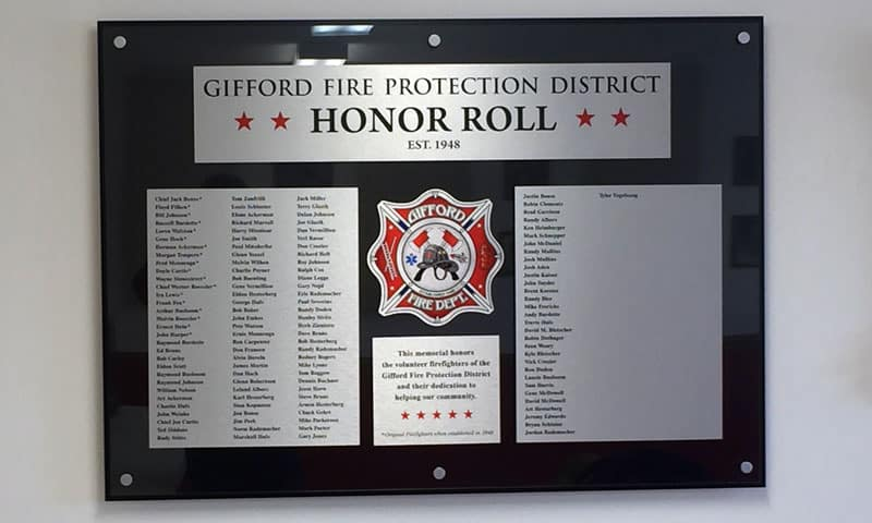 Fire Department Custom Recognition Wall 1