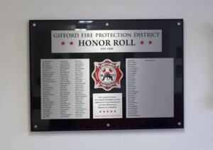 Fire Department Custom Recognition Wall