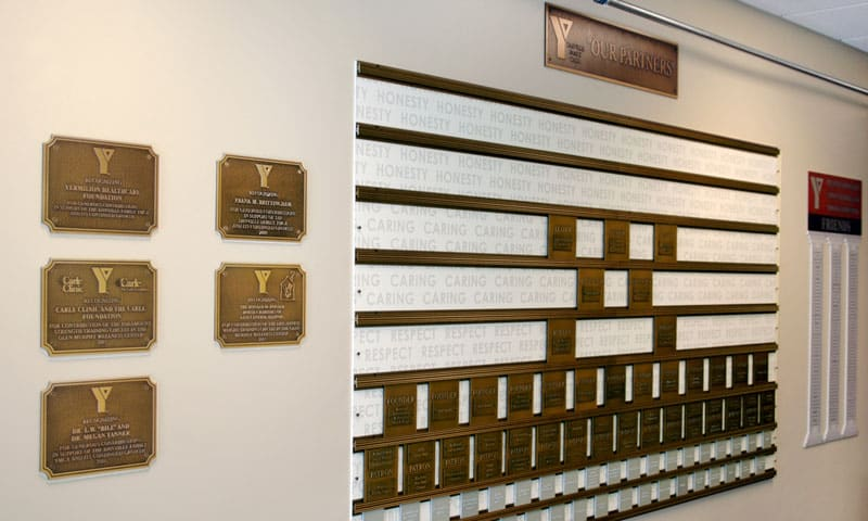 Ymca Non Profit Donor Wall