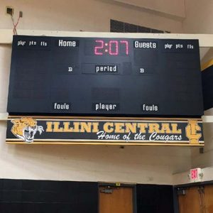 School Scoreboard Graphic Display